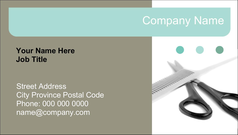 """2"""" x 3½"""" Business Card - Beauty Hair Care"""