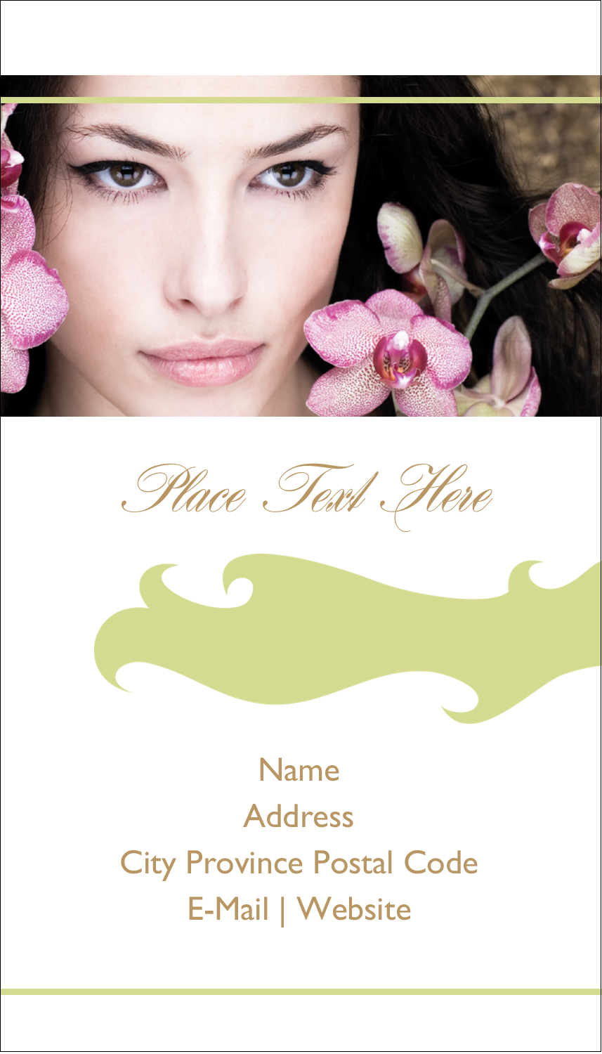 "3½"" x 2"" Business Card - Beauty Orchid Woman"