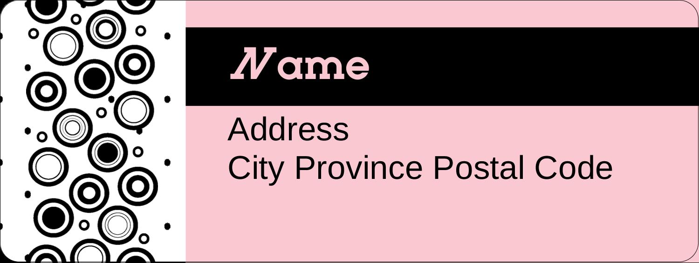 """⅔"""" x 1¾"""" Address Label - Beauty Works"""