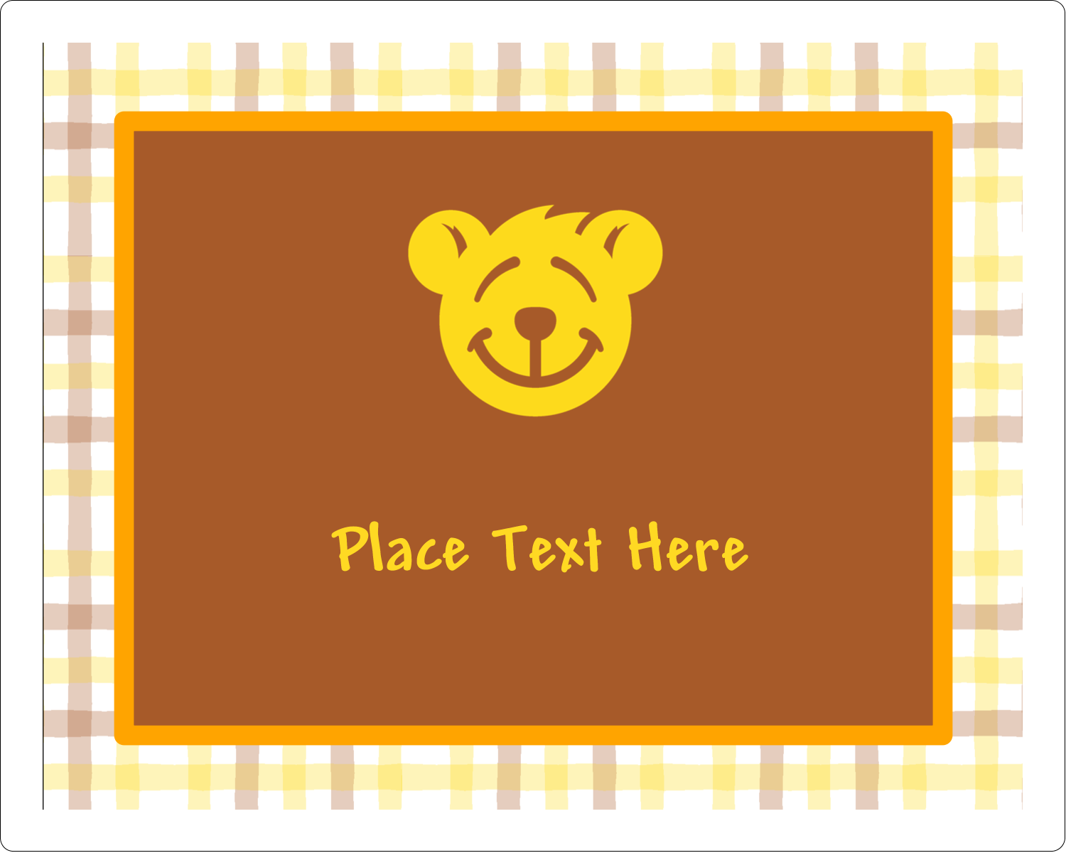 "3"" x 3¾"" Rectangular Label - Bear Yellow"