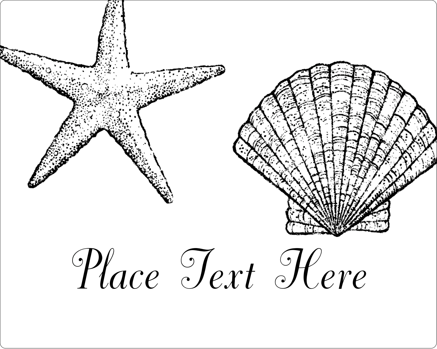 "3"" x 3¾"" Rectangular Label - Beach"