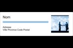 Poignée de main professionnelle Intercalaires / Onglets - gabarit prédéfini. <br/>Utilisez notre logiciel Avery Design & Print Online pour personnaliser facilement la conception.