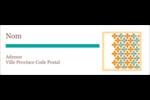 Motif fleuri Intercalaires / Onglets - gabarit prédéfini. <br/>Utilisez notre logiciel Avery Design & Print Online pour personnaliser facilement la conception.