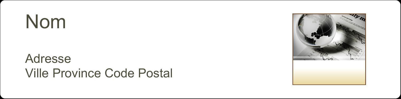 """1⅓"""" x 4"""" Étiquettes d'adresse - Rapport financier"""