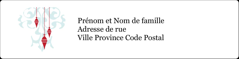 """1⅓"""" x 4"""" Étiquettes d'adresse - Noël élégant"""