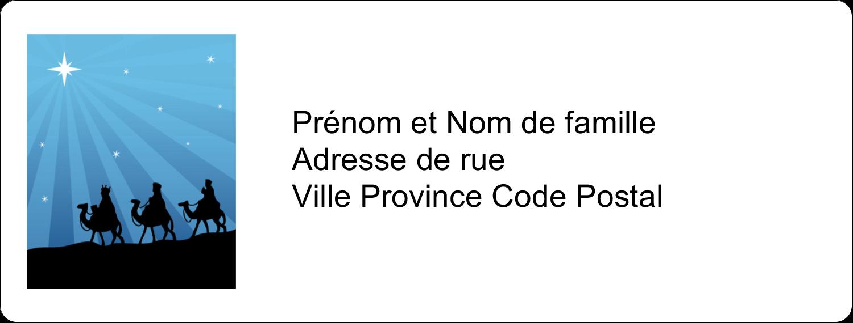"""1"""" x 4"""" Étiquettes d'adresse - Trois rois mages"""