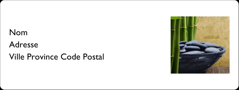 """1"""" x 2⅝"""" Étiquettes d'adresse - Bien-être"""