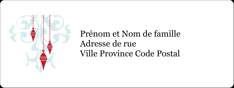 """1"""" x 4"""" Étiquettes d'adresse - Noël élégant"""