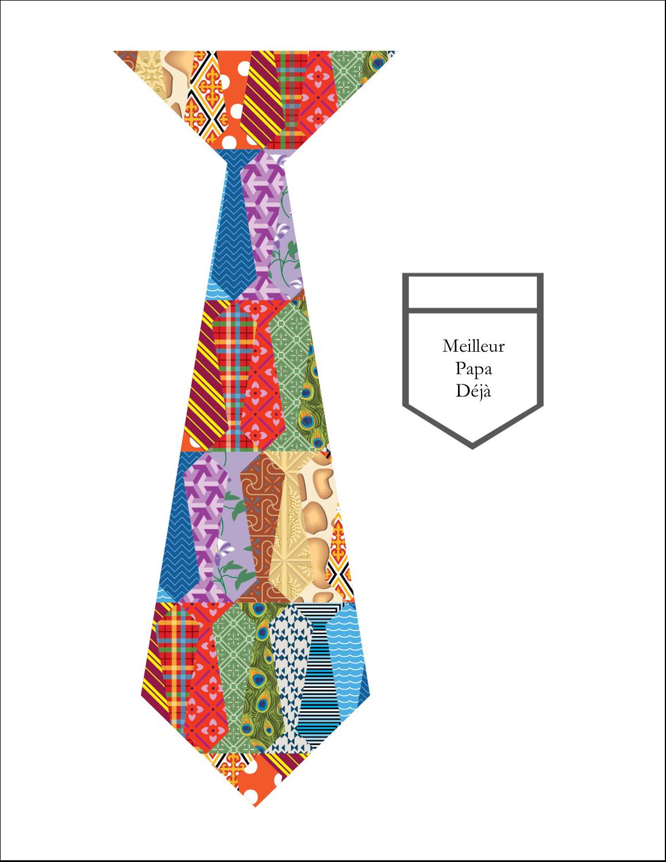 """8½"""" x 11"""" Cartes Et Articles D'Artisanat Imprimables - Cravate de la Fête des Pères"""