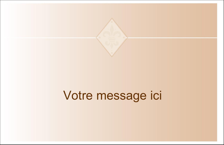 """5½"""" x 8½"""" Cartes de souhaits pliées en deux - Diamant beige"""