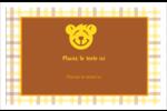 Ours jaune Cartes de souhaits pliées en deux - gabarit prédéfini. <br/>Utilisez notre logiciel Avery Design & Print Online pour personnaliser facilement la conception.