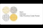 Cercles urbains jaunes Étiquettes de classement écologiques - gabarit prédéfini. <br/>Utilisez notre logiciel Avery Design & Print Online pour personnaliser facilement la conception.