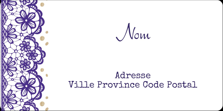 """1"""" x 2⅝"""" Étiquettes D'Identification - Mariage en dentelle violette"""