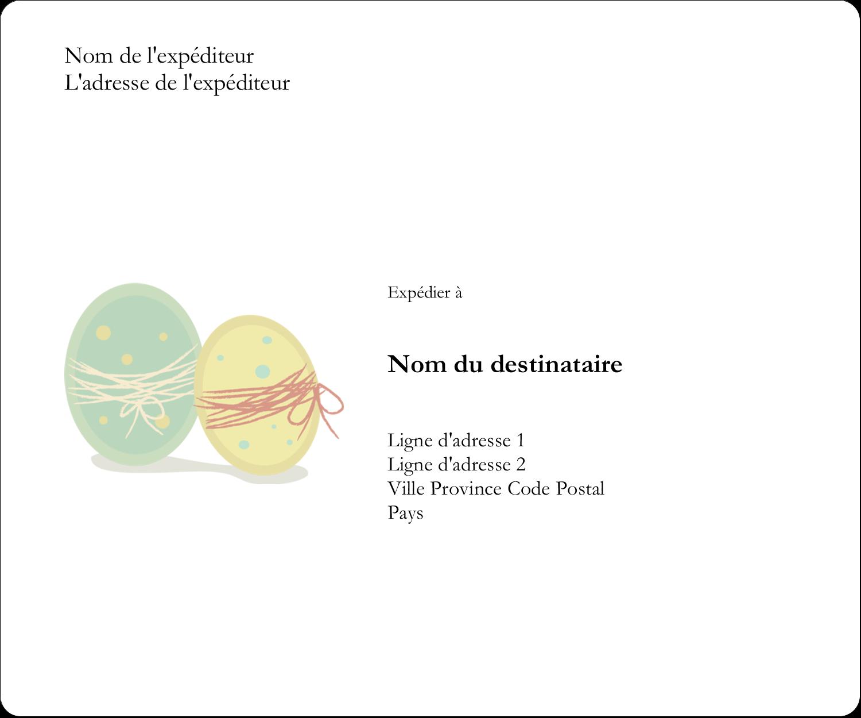 """3⅓"""" x 4"""" Étiquettes d'expédition - Œufs jumeaux"""