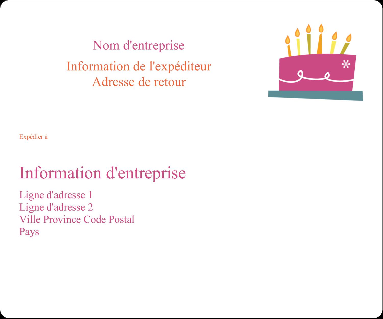 """½"""" x 1¾"""" Étiquettes D'Adresse - Fête d'anniversaire"""