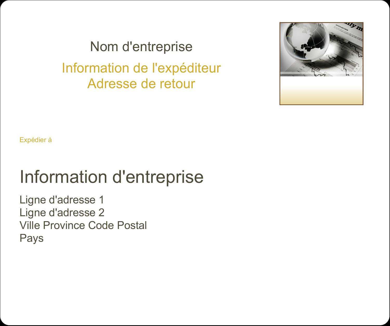"""½"""" x 1¾"""" Étiquettes D'Adresse - Rapport financier"""
