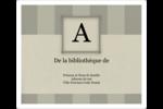 Initiale ex-libris Étiquettes d'expédition - gabarit prédéfini. <br/>Utilisez notre logiciel Avery Design & Print Online pour personnaliser facilement la conception.