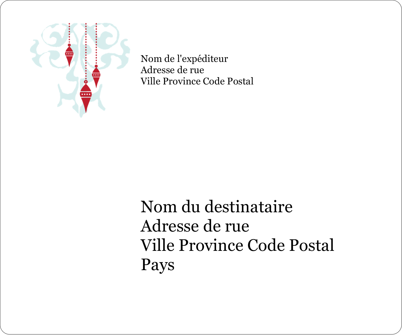 """½"""" x 1¾"""" Étiquettes D'Adresse - Noël élégant"""