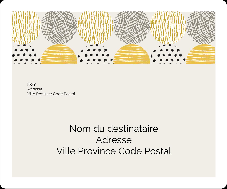 """½"""" x 1¾"""" Étiquettes D'Adresse - Cercles urbains jaunes"""