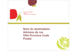 Fruits rétro Étiquettes D'Adresse - gabarit prédéfini. <br/>Utilisez notre logiciel Avery Design & Print Online pour personnaliser facilement la conception.
