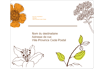 Illustrations florales Étiquettes D'Adresse - gabarit prédéfini. <br/>Utilisez notre logiciel Avery Design & Print Online pour personnaliser facilement la conception.