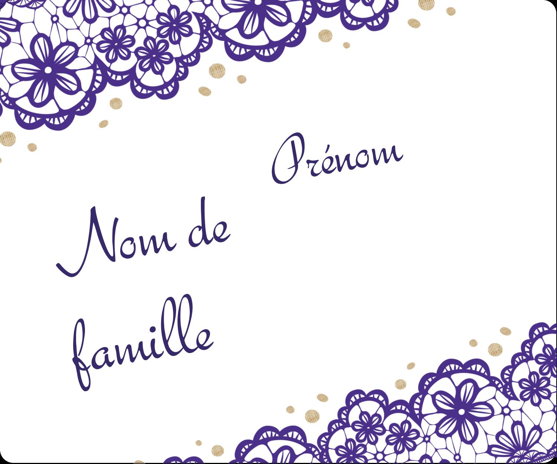 """½"""" x 1¾"""" Étiquettes D'Adresse - Mariage en dentelle violette"""