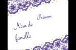 Mariage en dentelle violette Étiquettes d'expédition - gabarit prédéfini. <br/>Utilisez notre logiciel Avery Design & Print Online pour personnaliser facilement la conception.