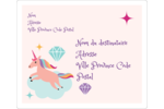 Licorne en fête Étiquettes D'Adresse - gabarit prédéfini. <br/>Utilisez notre logiciel Avery Design & Print Online pour personnaliser facilement la conception.