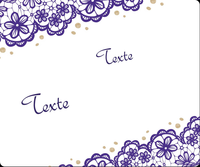 """3-7/16"""" x ⅔"""" Étiquettes de classement - Mariage en dentelle violette"""