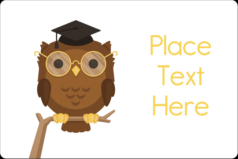 "2"" x 3"" Rectangular Label - Academic Owl Graduation"