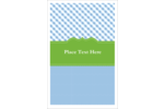 Add whimsical charm to your project with pre-designed Green with Blue Gingham templates.
