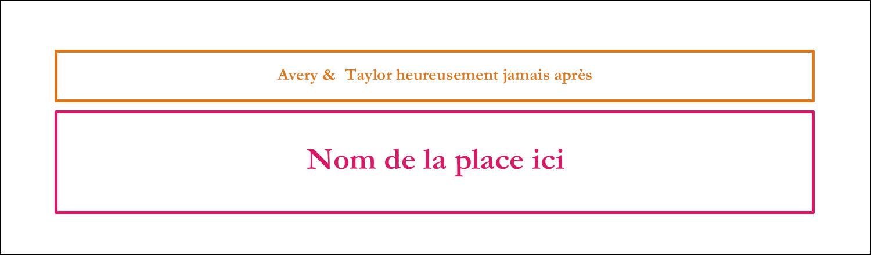 "3½"" x 11"" Affichette - Fête prénuptiale en rose et orange"