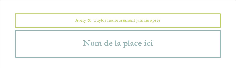"""3½"""" x 11"""" Affichette - Fleurs bleues et vertes"""
