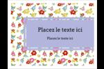 Fleurs printanières Cartes Et Articles D'Artisanat Imprimables - gabarit prédéfini. <br/>Utilisez notre logiciel Avery Design & Print Online pour personnaliser facilement la conception.