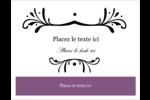 Filigrane violet Cartes Et Articles D'Artisanat Imprimables - gabarit prédéfini. <br/>Utilisez notre logiciel Avery Design & Print Online pour personnaliser facilement la conception.