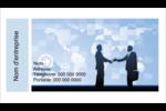 Poignée de main professionnelle Carte d'affaire - gabarit prédéfini. <br/>Utilisez notre logiciel Avery Design & Print Online pour personnaliser facilement la conception.