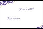 Mariage en dentelle violette Étiquettes badges autocollants - gabarit prédéfini. <br/>Utilisez notre logiciel Avery Design & Print Online pour personnaliser facilement la conception.
