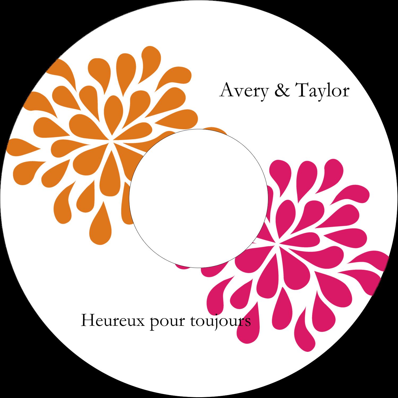 """⅔"""" x 3-7/16"""" Étiquettes de classement - Fête prénuptiale en rose et orange"""