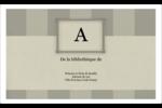 Initiale ex-libris Étiquettes d'expéditions - gabarit prédéfini. <br/>Utilisez notre logiciel Avery Design & Print Online pour personnaliser facilement la conception.