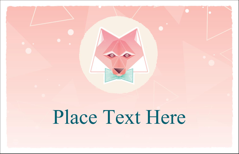 "5½"" x 8½"" Greeting Card - Formal Fox"