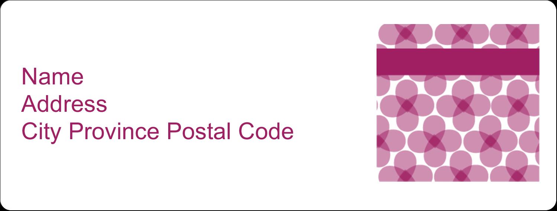 "1"" x 2⅝"" Address Label - Purple Blossoms"