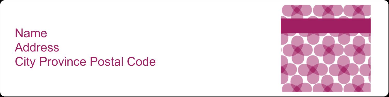 "1"" x 4"" Address Label - Purple Blossoms"