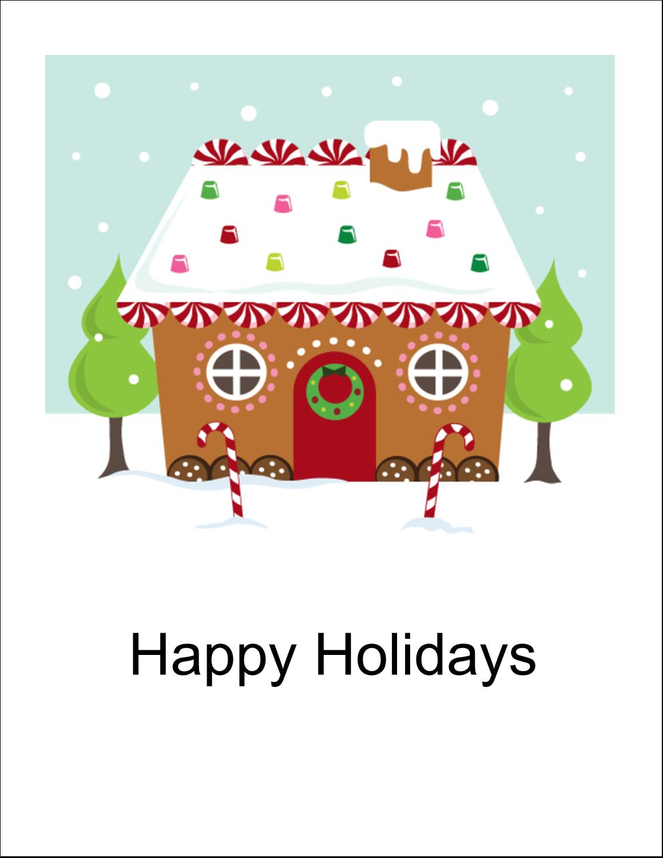 "8½"" x 11"" T-Shirt-Tranfers - Gingerbread House"