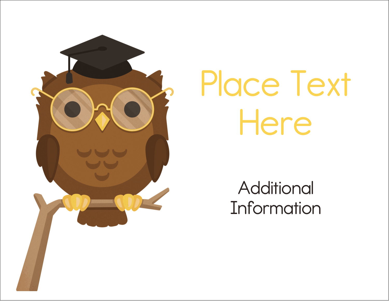 "5½"" x 4¼"" Note Card - Academic Owl Graduation"