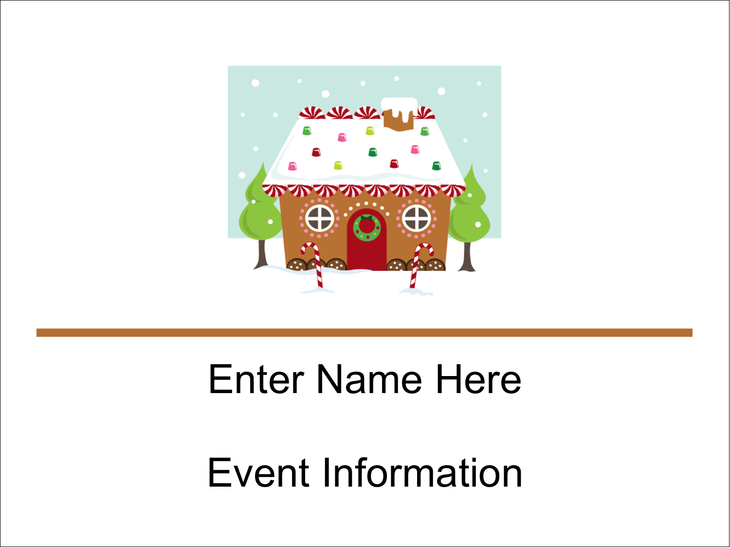 """3"""" x 4"""" Name Tags - Gingerbread House"""