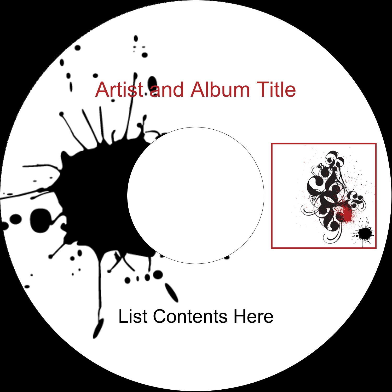 """4.65"""" CD-DVD Label - Dramatic Curlicues"""