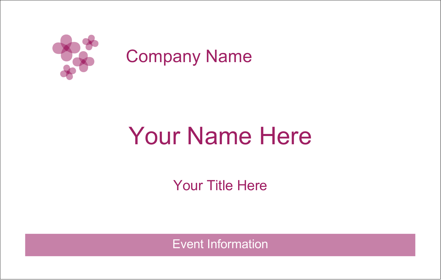 "2¼"" x 3½"" Name Tags - Purple Blossoms"