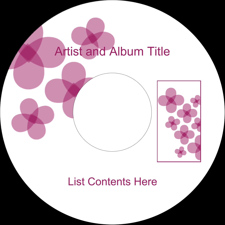 CD-DVD Label - Purple Blossoms