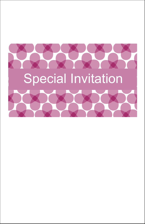"5"" x 8½"" Half Fold Card - Purple Blossoms"