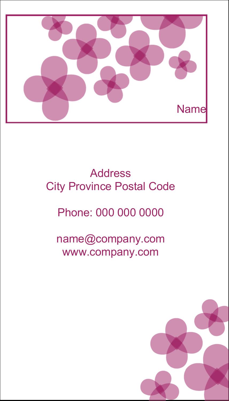 "2"" x 3½"" Business Card - Purple Blossoms"